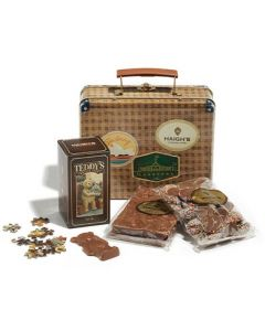 Suitcase Hamper Tin
