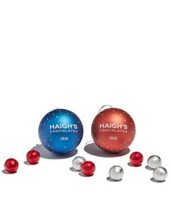 Christmas Bauble Gift Tin with Dark Chocolate Baubles