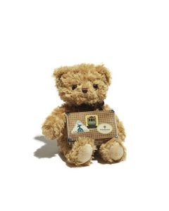 Teddy Toy with Speckle Suitcase Tin
