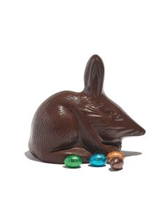 Large Dark Chocolate Bilby with Mini Eggs