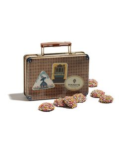 Speckles Suitcase Tin