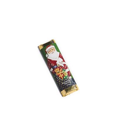 Milk Peppermint Chocolate Santa Bar