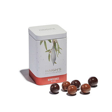 Silver Ornament Gift Tin with Berrychocs