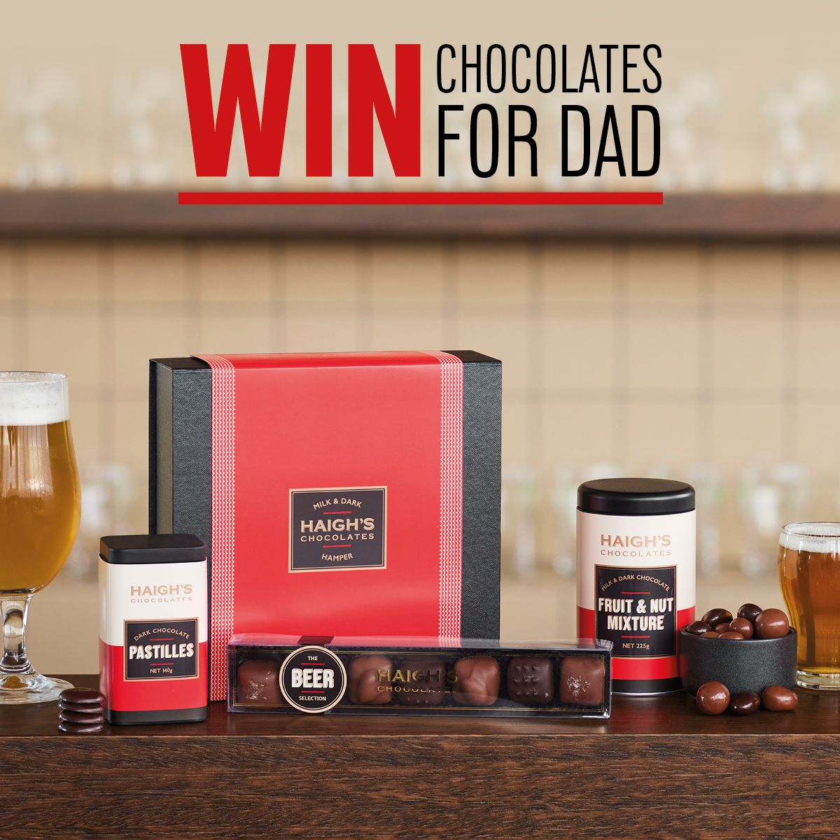 Win chocolates for Dad