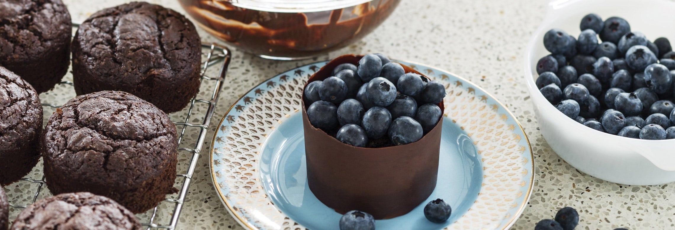 Haigh's Chocolate Blueberry Cakes