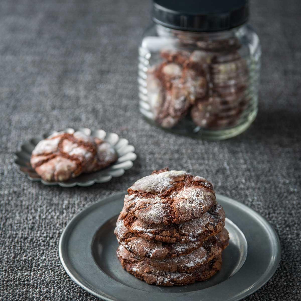 Haigh's Chocolate Crackle Cookies