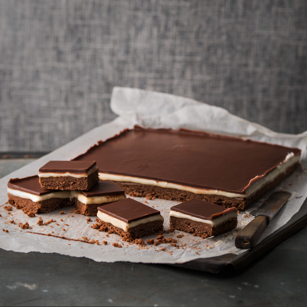 Haigh's Chocolate & Peppermint Slice